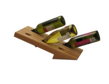 Wine bottle holder for six bottles