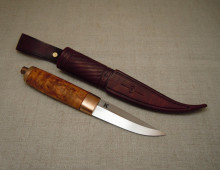 Puukko with bronze bolsters
